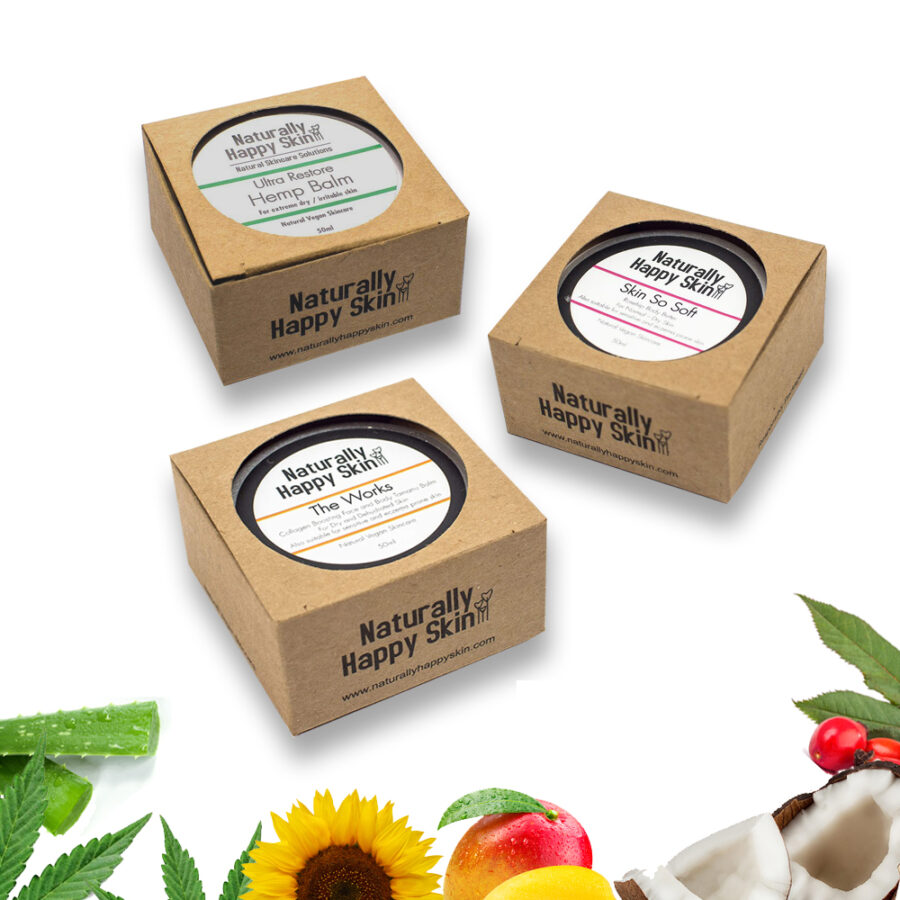 50ml Trio - Skin So Soft, Hemp Balm & The Works | Naturally Happy Skin